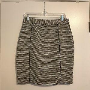 Black and white tweed skirt- high waisted mini